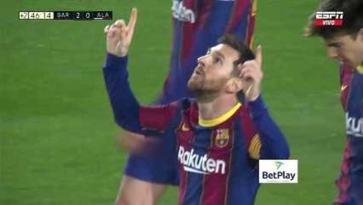Dos golazos de Messi en el triunfo del Barcelona