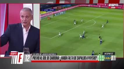 Castrilli explicó por qué no debió haber sido anulado el gol de Cardona