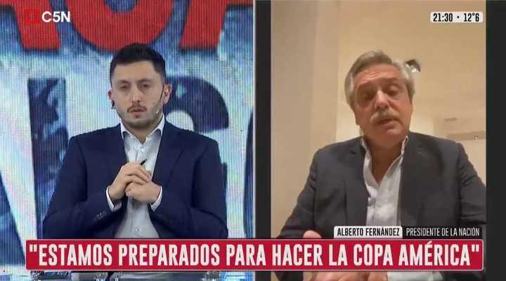 Alberto Fernández habló sobre la próxima Copa América