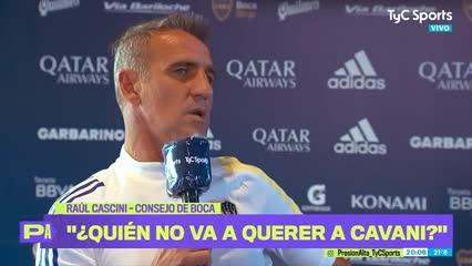 """Cascini: """"Cavani es el sueño de todos"""""""
