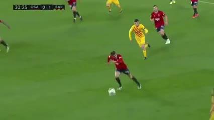 Los goles del triunfo 2-0 del Barcelona al Osasuna