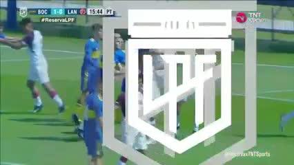 Aranda, cabezazo para el 1-0 de Boca a Lanús en Reserva