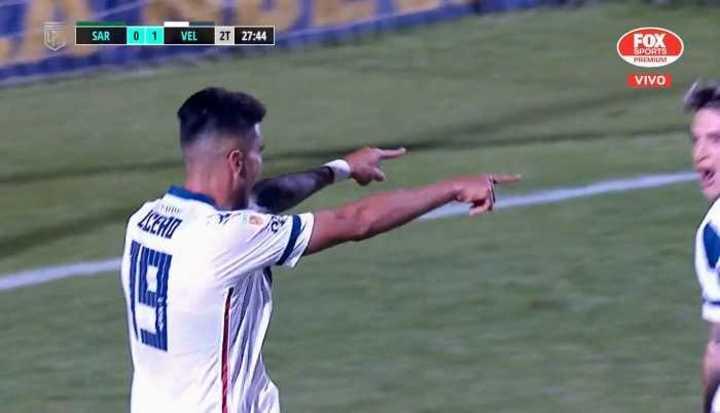 Lucero marcó el 1 a 0 de Vélez