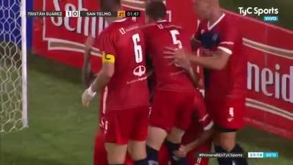 El gol del ascenso de Tristán Suárez