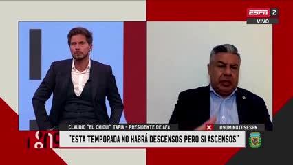 """Chiqui Tapia: """"La Liga Profesional va a tener 26 equipos el año que viene"""""""