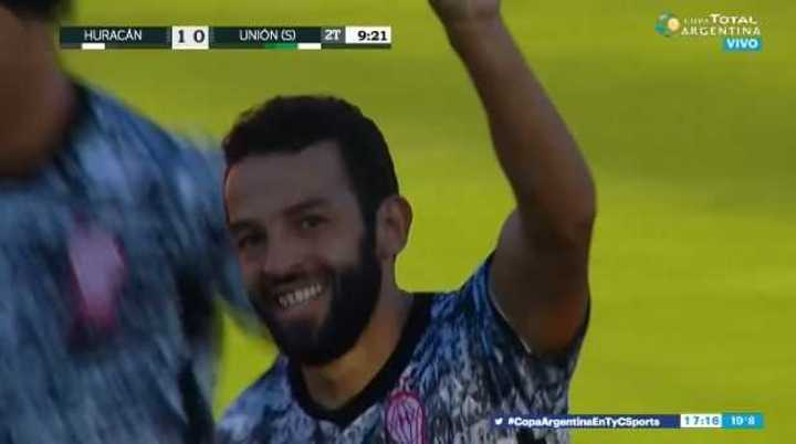 Gamba marcó el 1 a 0 del Globo