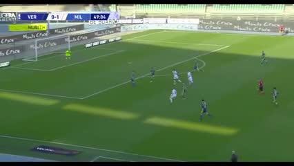Los goles de la victoria de Milan Ante Hellas Verona