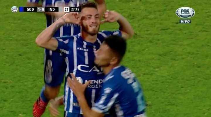 Gran gol de Godoy Cruz