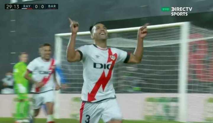 Falcao marcó el 1 a 0 de Rayo Vallecano