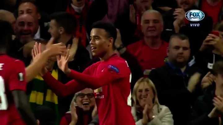 El juvenil Greenwood le dio el triunfo al United