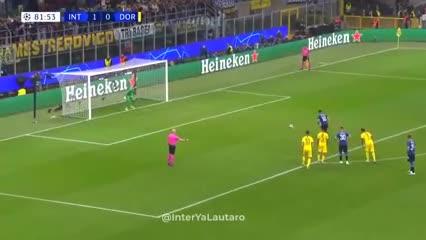 Lautaro Martínez desperdició el segundo