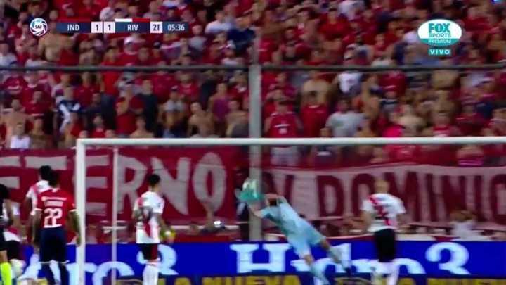 Armani evitó el gol de Barboza
