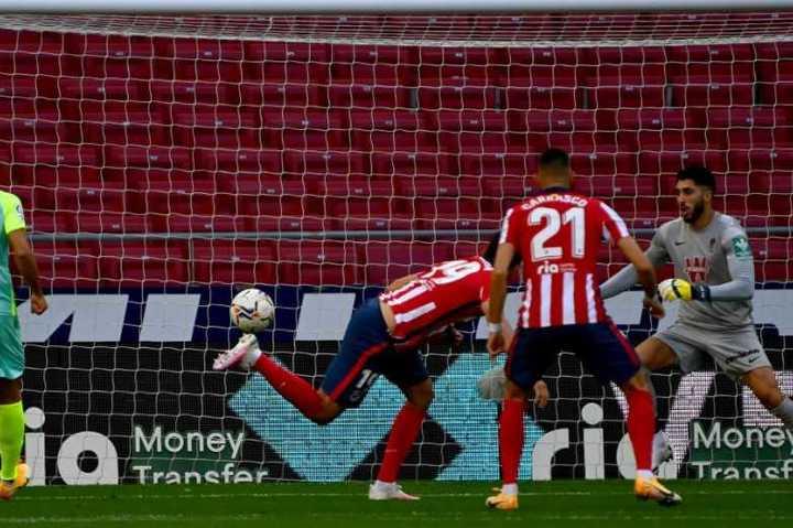 Diego Costa y el 1-0 para el Atlético de Madrid