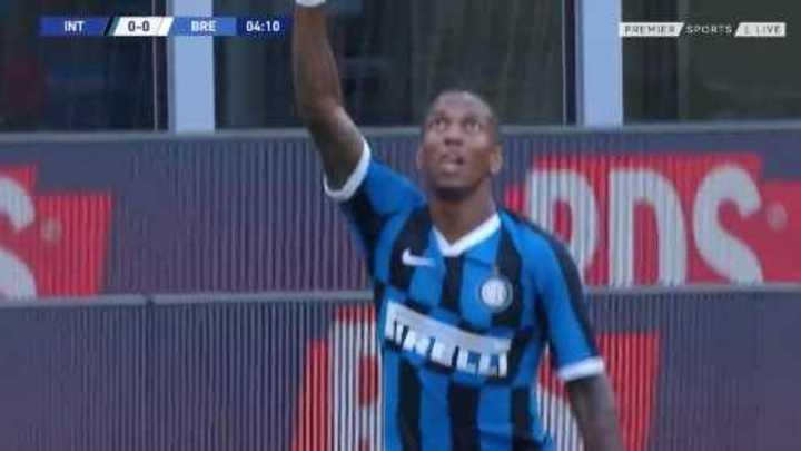 Young marcó el 1 a 0 del Inter
