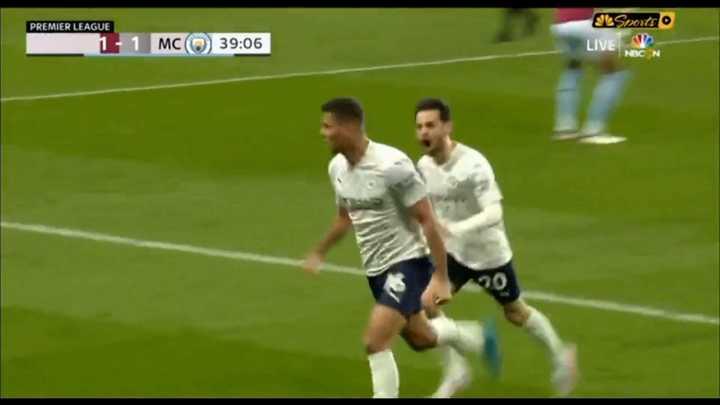 El City le ganó por 2 a 1 al Aston Villa