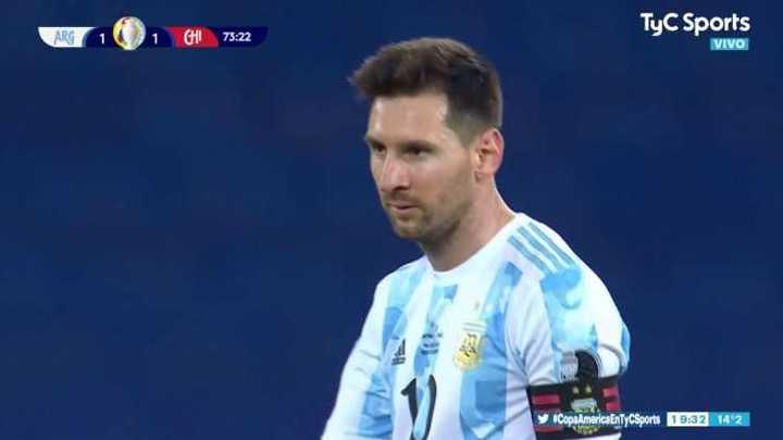 Lo mejor del empate entre Argentina y Chile 1 a 1
