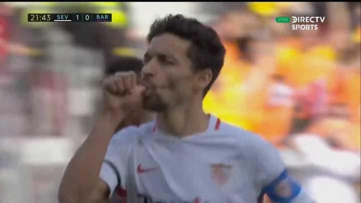 Jesús Navas abrió la cuenta para el Sevilla