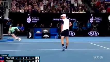 El tie break de la victoria de Roger Federer ante John Millan