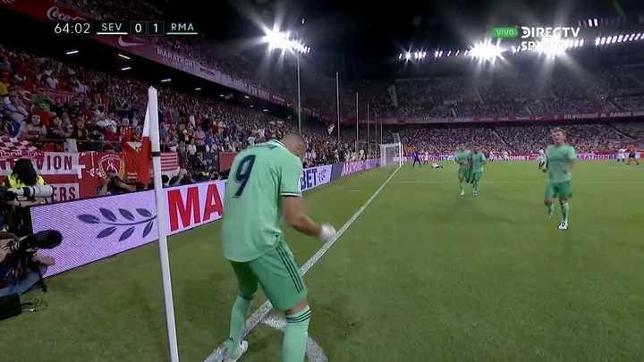 Benzema marcó el primero del Real Madrid