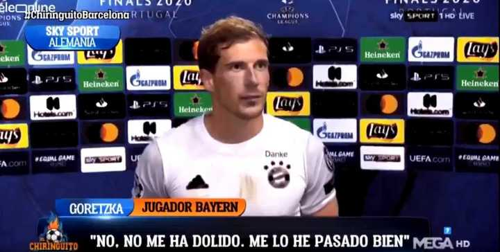"""Goretzka: """"Disfruté ver así a Messi"""""""