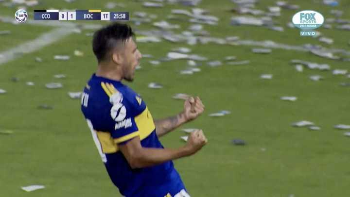 Salvio puso el 2 a 0 para Boca