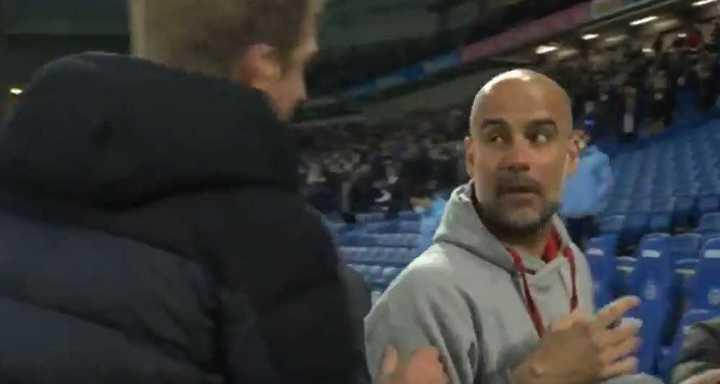 La discusión de Guardiola