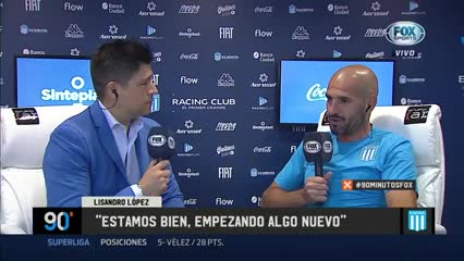 "Lisandro López: ""Me favorece el esquema de Baccacece"""