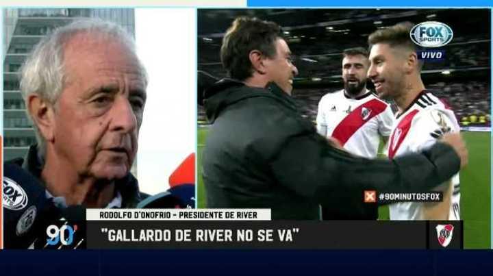"""Gallardo de River no se va"""