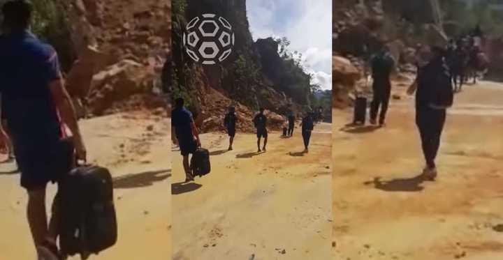 El terremoto los obligó a caminar