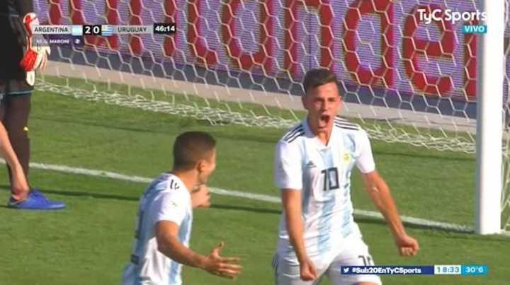 Maroni marcó el segundo de Argentina