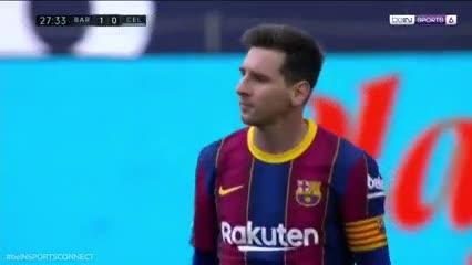 Messi, de cabeza, puso el 1 a 0 parcial
