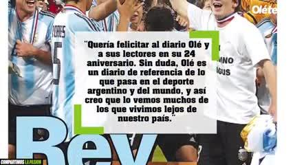 El saludo de Messi