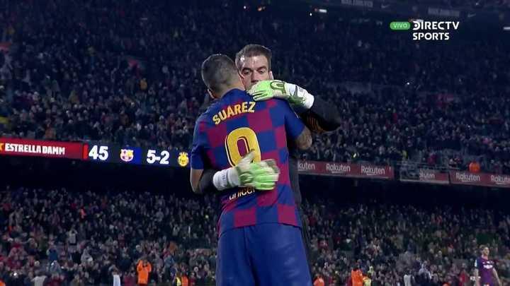 Suárez se llevó un recuerdo de su golazo