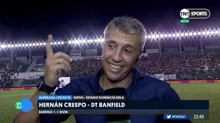 Crespo dijo que