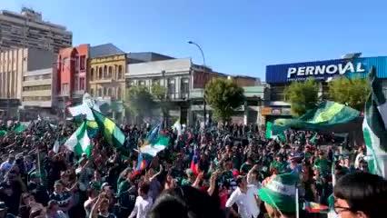 Multitudinaria protesta de Wanderers