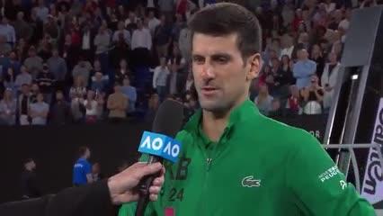 Djokovic se emocionó hasta las lágrimas al recordar a Kobe Bryant