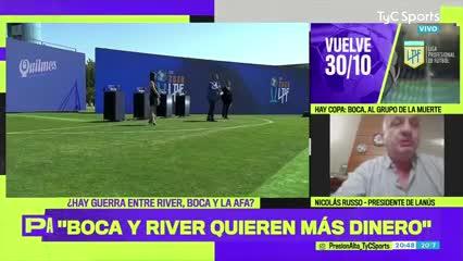 La acusación de Nicolás Russo contra River y Boca