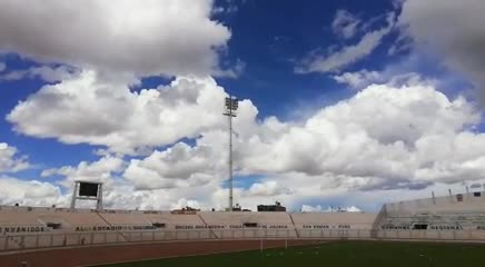 Las luces del estadio Binacional