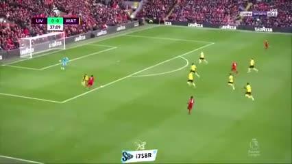 La envidiable definición de Salah para el 1-0 del Liverpool al Watford