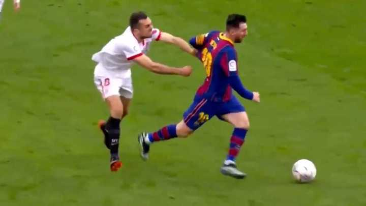 El agarrón a Messi que se volvió viral