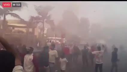 Incidentes en la vuelta del fútbol de perú