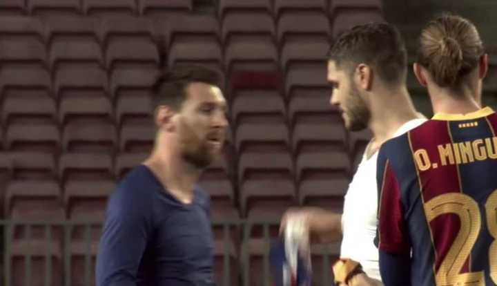 Messi y el cambio de camiseta con Icardi
