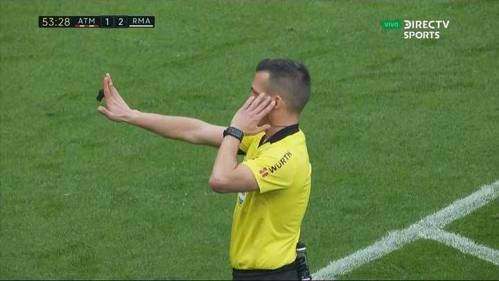 Le anularon un golazo a Morata con el VAR