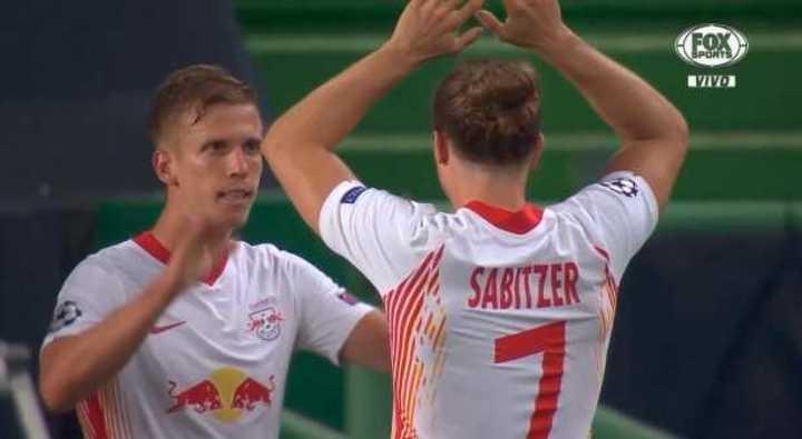 Olmo marcó el 1 a 0 del RB Leipzig