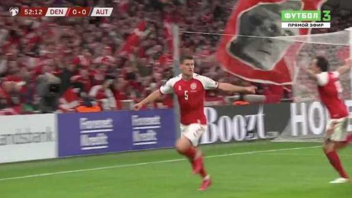 El gol que clasificó a Dinamarca