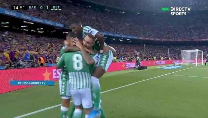 Betis se puso arriba en el Camp Nou