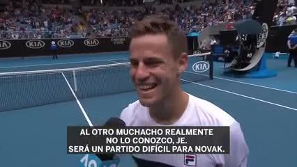 La broma de Schwartzman sobre Djokovic