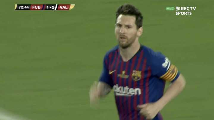 Messi descontó para Barcelona