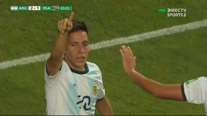 Ezequiel Barco anotó el segundo, de penal