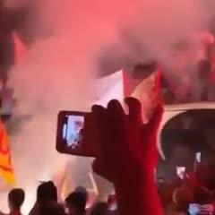 Benevento festejó el título con sus hinchas